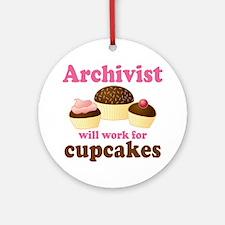 Archivist Cupcake (Funny) Ornament (Round)