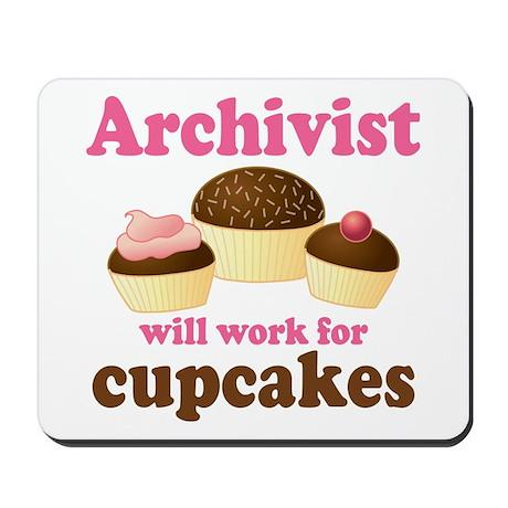 Archivist Cupcake (Funny) Mousepad