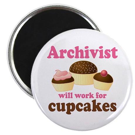Archivist Cupcake (Funny) Magnet