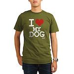 I LOVE MY DOG Organic Men's T-Shirt (dark)