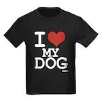 I LOVE MY DOG Kids Dark T-Shirt