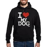 I LOVE MY DOG Hoodie (dark)