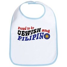 Proud to be Jewish and Filipino Bib