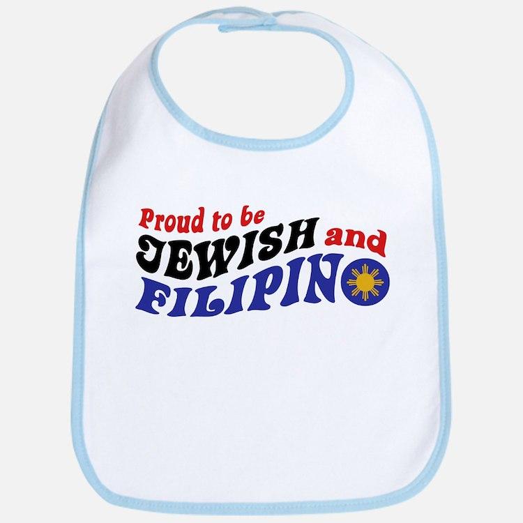 Proud to be Jewish and Filipino Bib