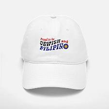 Proud to be Jewish and Filipino Baseball Baseball Cap