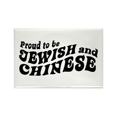 Proud to be Jewish and Chinese Rectangle Magnet