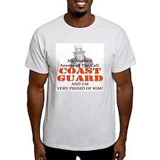 USCG Nephew Answered (F&B) Ash Grey T-Shirt