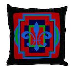 Fleur De Lis Art Deco 2 Throw Pillow