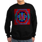 Fleur De Lis Art Deco 2 Sweatshirt (dark)