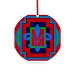 Fleur De Lis Art Deco 2 Ornament (Round)