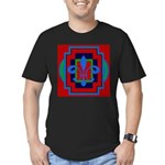 Fleur De Lis Art Deco 2 Men's Fitted T-Shirt (dark