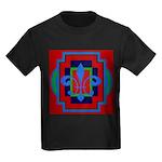 Fleur De Lis Art Deco 2 Kids Dark T-Shirt
