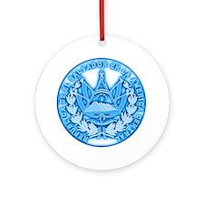 El Salvador Seal Ornament (Round)