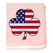 'American Shamrock' baby blanket