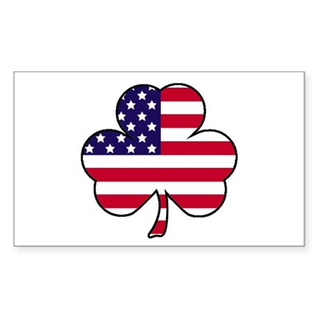 'American Shamrock' Sticker (Rectangle)