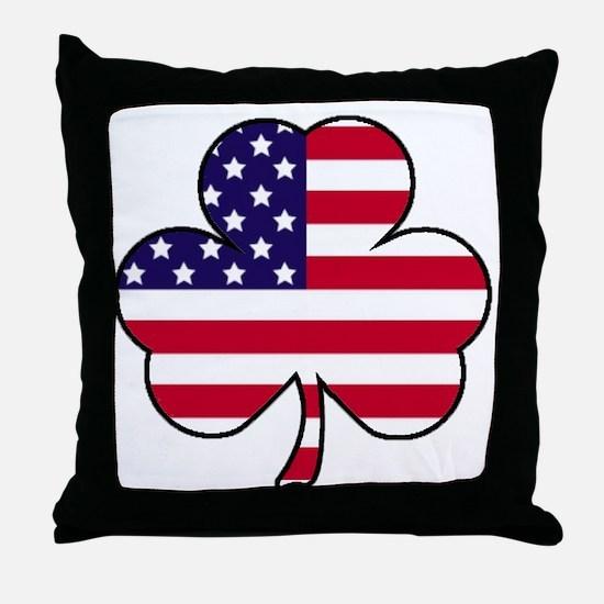 'American Shamrock' Throw Pillow