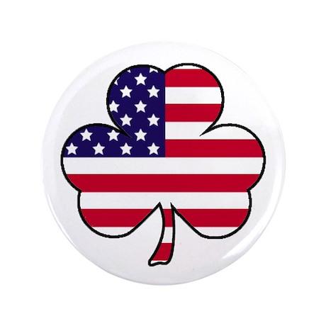 "'American Shamrock' 3.5"" Button"