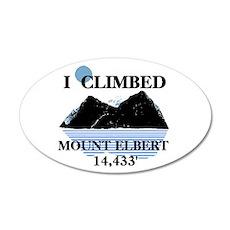 I Climbed Mount Elbert 22x14 Oval Wall Peel