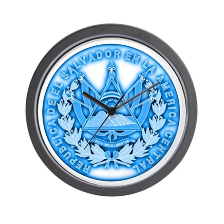 El Salvador Seal Wall Clock