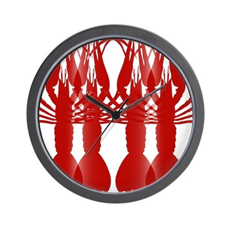 Crawfish tile wall mural wall clock by figstreetstudio for Clock wall mural