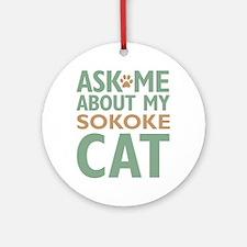 Sokoke Cat Ornament (Round)