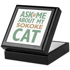 Sokoke Cat Keepsake Box
