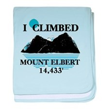 I Climbed Mount Elbert baby blanket