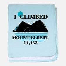 I Climbed Mount Elbert baby blanket