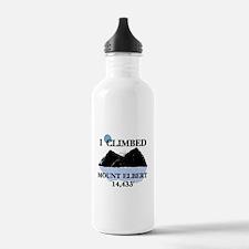 I Climbed Mount Elbert Water Bottle