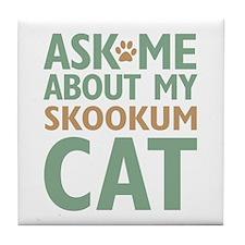 Skookum Cat Tile Coaster