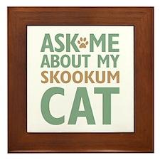 Skookum Cat Framed Tile