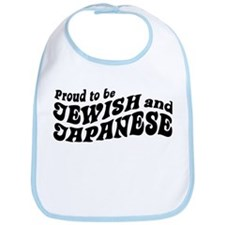 Proud to be Jewish and Japanese Bib