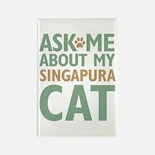 Singapura Cat Rectangle Magnet