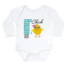Hawaii Chick Long Sleeve Infant Bodysuit