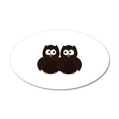 Unsure Owls 22x14 Oval Wall Peel