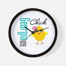 Georgia Chick Wall Clock