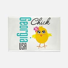 Georgia Chick Rectangle Magnet