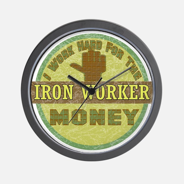 Iron Worker Wall Clock