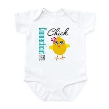 Connecticut Chick Infant Bodysuit