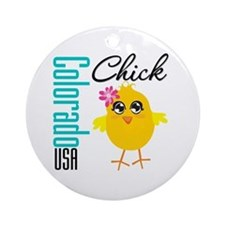 Colorado Chick Ornament (Round)