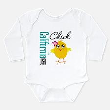California Chick Long Sleeve Infant Bodysuit