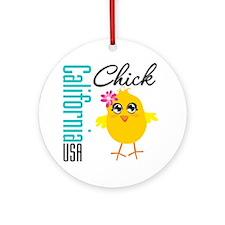California Chick Ornament (Round)
