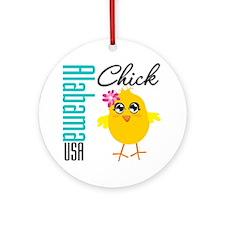 Alabama Chick Ornament (Round)