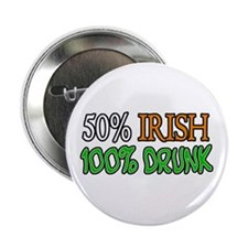"'50% Irish' 2.25"" Button"