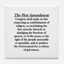 First Amendment Tile Coaster