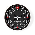 Aviation Heading Indicator Wall Clock