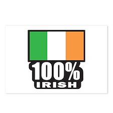 100% IRISH Postcards (Package of 8)