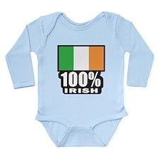 100% IRISH Long Sleeve Infant Bodysuit