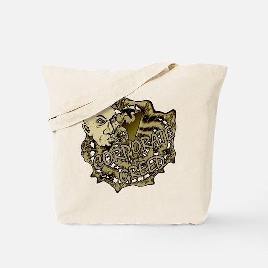 Corporate Greed Tote Bag