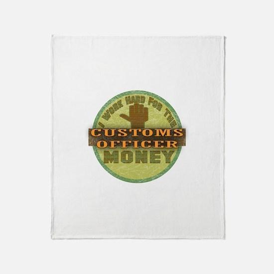 Customs Officer Throw Blanket